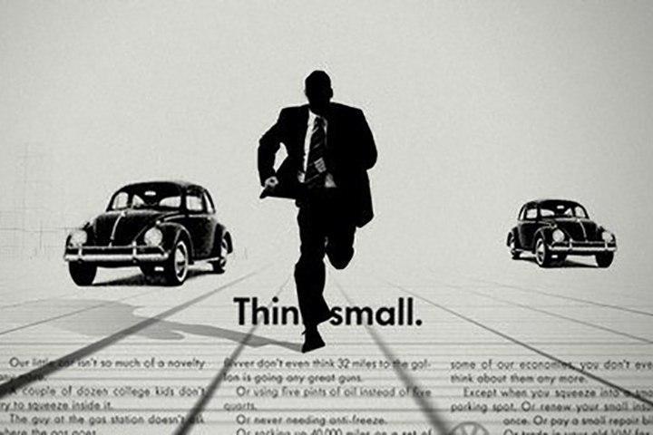 Volkswagen жук Think small